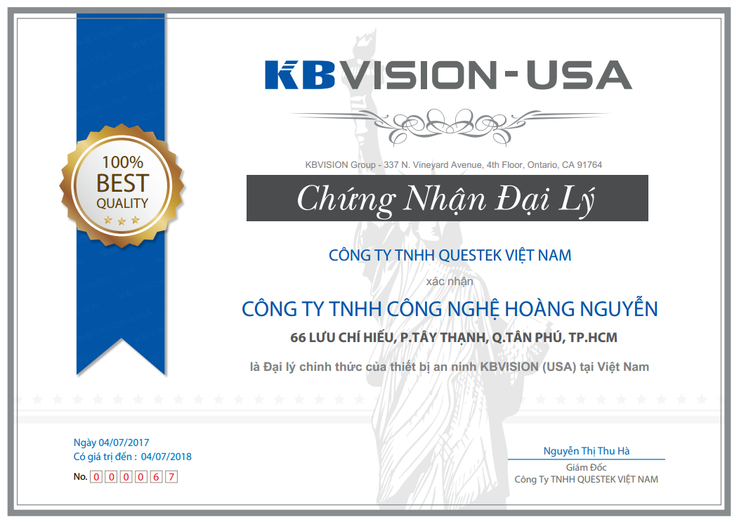 Công Nghệ Hoàng Nguyễn - Nhà phân phối chính thức camera quan sát KBVISION